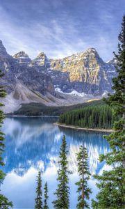 Превью обои moraine lake, альберта, канада, hdr
