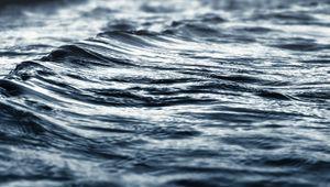 Превью обои море, вода, волны, серый