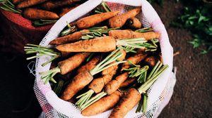 Превью обои морковь, мешок, овощи