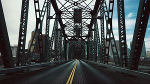 Превью обои мост, конструкция, дорога, сооружение