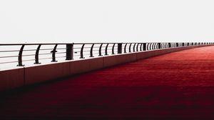 Превью обои мост, минимализм, перила, дубай, объединенные арабские эмираты