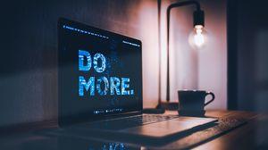 Превью обои мотивация, фраза, ноутбук, слова, надпись