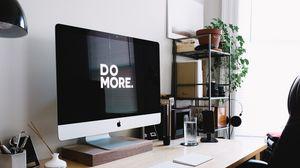 Превью обои мотивация, фраза, слова, компьютер, imac