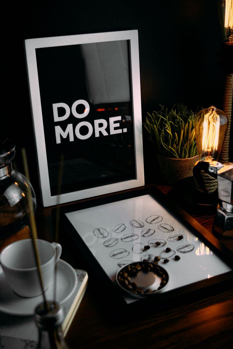 800x1200 Обои мотивация, фраза, слова, текст, рамка, кофейные зерна