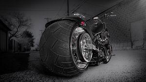 Превью обои мотоцикл, байк, чоппер, спорт, стиль
