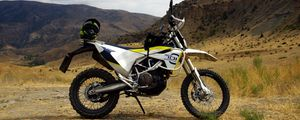 Превью обои мотоцикл, байк, горы, природа