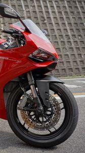 Превью обои мотоцикл, байк, красный