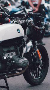 Превью обои мотоцикл, байк, шлем