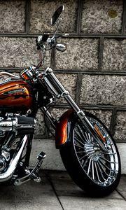 Превью обои мотоцикл, байк, вид сбоку, колесо