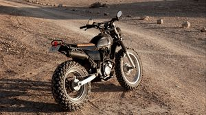 Превью обои мотоцикл, мотоспорт, пустыня, скалы