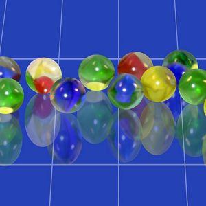 Превью обои мрамор, голубой, шары, фон