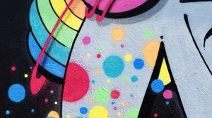 Превью обои граффити, стена, краска, разноцветный