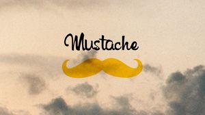 Превью обои mustache, усы, минимализм, надпись