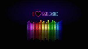 Превью обои музыка, спектр, эквалайзер, надпись, любовь