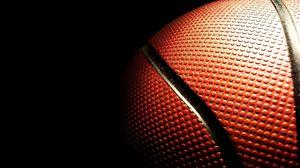 Превью обои мяч, баскетбол, пупырышки, полоски, темнота