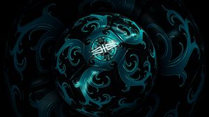 Превью обои мяч, форма, вращение, темный