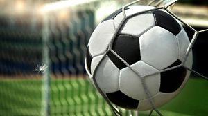 Превью обои мяч, футбольный, сетка