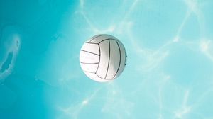 Превью обои мяч, вода, полет