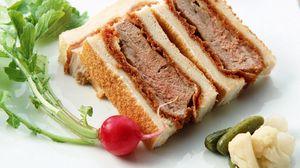 Превью обои мясо, зелень, блюдо, бутерброд