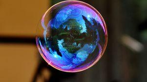 Превью обои мыльный пузырь, красочный, шар, отражение