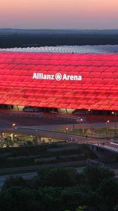 Превью обои мюнхен, германия, allianz arena, munich, stadium, germany, альянц арена