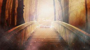 Превью обои надпись, чудеса, волшебство, мост, блеск