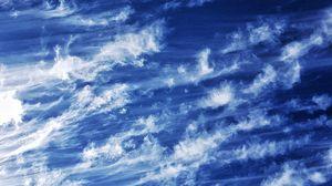Превью обои небо, облака, атмосфера, высота