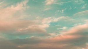 Превью обои небо, облака, атмосфера, горизонт