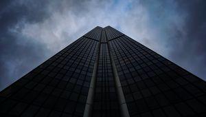 Превью обои небоскреб, здание, архитектура, небо, вид снизу