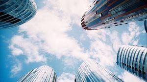 Превью обои небоскребы, город, небо