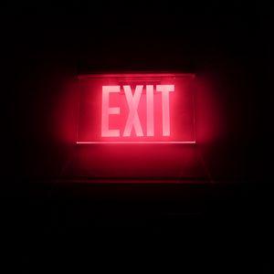 Превью обои неон, подсветка, надпись, выход
