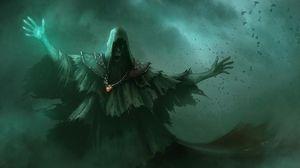 Превью обои нежить, лохмотья, птицы, темнота, мрак