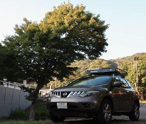 Превью обои nissan, автомобиль, внедорожник, коричневый