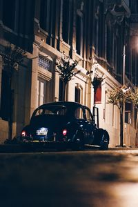 Превью обои ночной город, улица, автомобиль