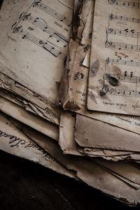 Превью обои ноты, грязный, бумага
