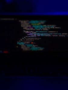 Превью обои ноутбук, экран, код, программирование