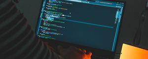 Превью обои ноутбук, код, программирование, программист, хакер