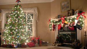 Превью обои новый год, елка, украшения