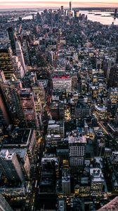 Превью обои нью-йорк, сша, город, вид сверху