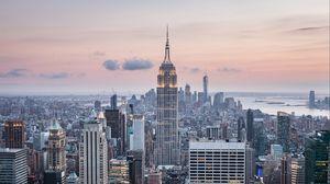 Превью обои нью-йорк, сша, небоскребы, вид сверху