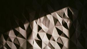 Превью обои объем, поверхность, треугольники, фрагменты