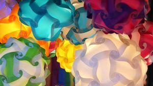 Превью обои объем, узоры, разноцветный, формы