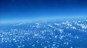 Превью обои облака, атмосфера, тропосфера, высота, над облаками, горизонт