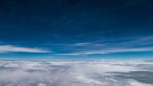 Превью обои облака, небо, атмосфера, высота