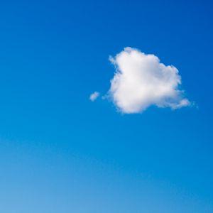 Превью обои облако, небо, минимализм, синий