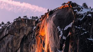 Превью обои обрыв, скала, гора, каменный, пейзаж