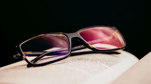 Превью обои очки, диоптрия, линзы, книга