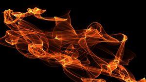 Превью обои огонь, абстракция, сгустки