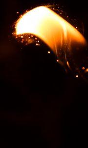 Превью обои огонь, искры, свет, темнота, темный
