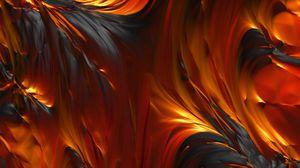 Превью обои огонь, масло, краски, смазанный